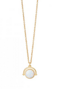 Sea La Vie To the Moon and Back Necklace - Gold