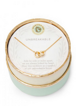 Load image into Gallery viewer, Sea La Vie Unbreakable Necklace- Gold