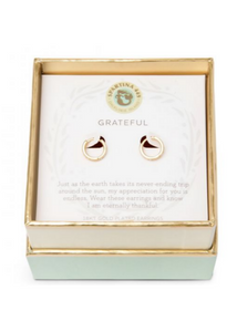 Sea La Vie Grateful Earrings - Gold