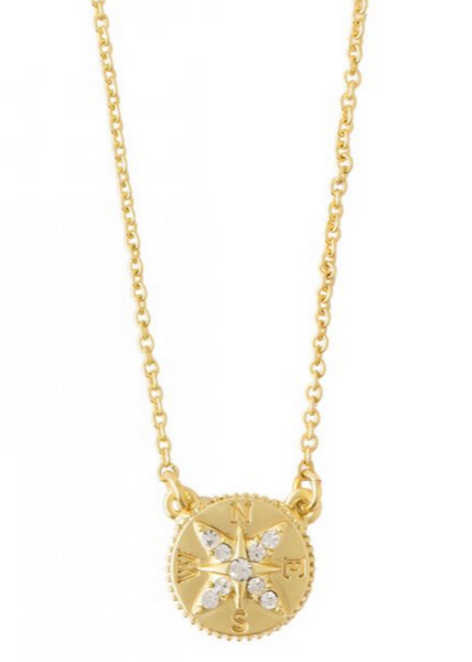 Sea La Vie Find Adventure Necklace- Gold
