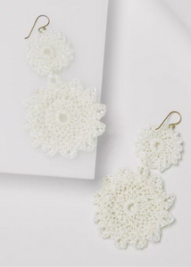 MACRAME EARRINGS - White