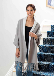 The Reversible Wrap - Sand/White