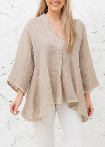 Abigail Top- Taupe