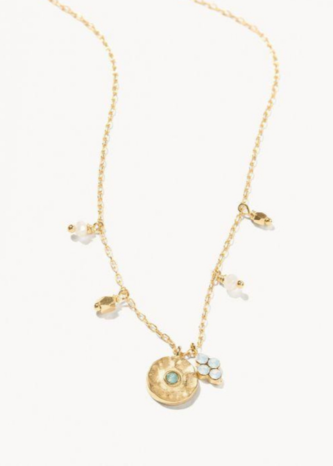 Delicate Sprite Necklace - Gold/Pacific Opal