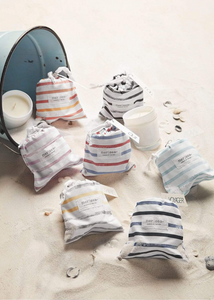 Striped Sandbag Candles