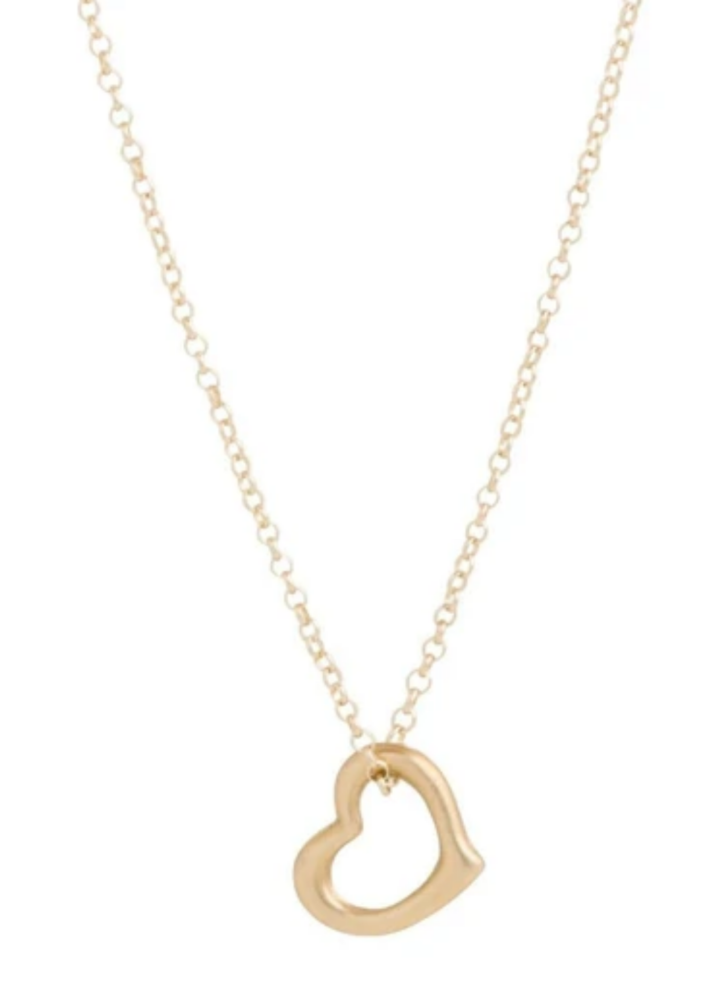 Necklace Gold - Love Gold Charm 16""