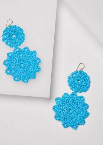 MACRAME EARRINGS - Sky Blue