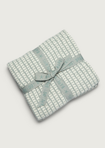 CozyChic® Beach House Blanket - Sage Green/Cream