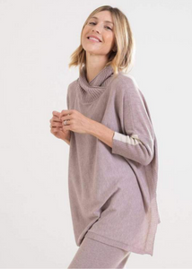 Lovecycled Split Turtleneck - Dusty Pink