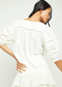 Daisy Chains Eyelet Top - Ivory