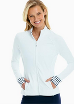 Load image into Gallery viewer, Viviette Full Zip - Classic White