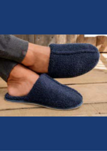Men's Cozy Slippers - Indigo