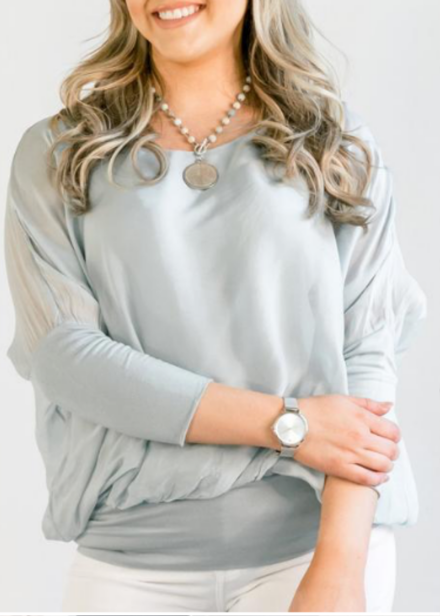 Cassandra Top- Grey