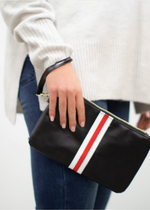 Load image into Gallery viewer, Preppy Zipper Clutch - Marblehead Stripe