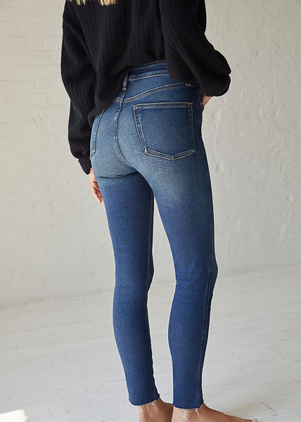 Raw High-Rise Jegging - Capri Blue