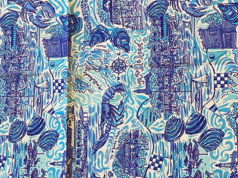 Cotton Tea Towel - Marblehead