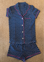 Load image into Gallery viewer, HEARTS PJ POLO SET - Navy