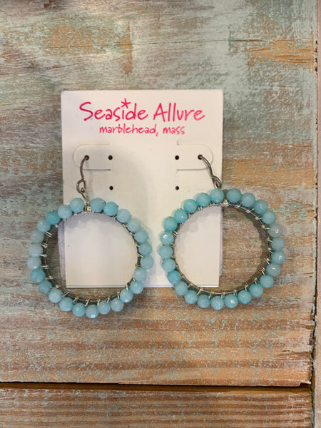 Earrings - Aqua Chalcedony