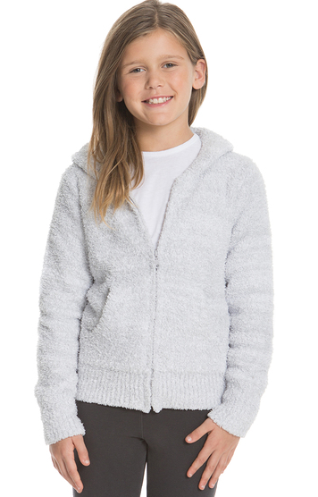 COZYCHIC YOUTH HEATHERED HOODIE - Ocean/White
