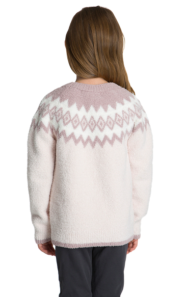 COZYCHIC YOUTH GIRLS NORDIC PULLOVER - Pink Multi