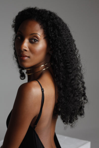 black Curly Long Crochet Wig