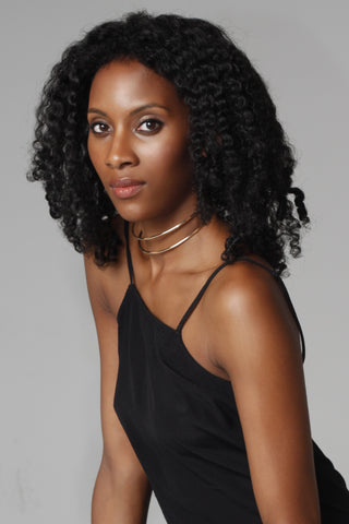 black Curly shoulder length Crochet Wig