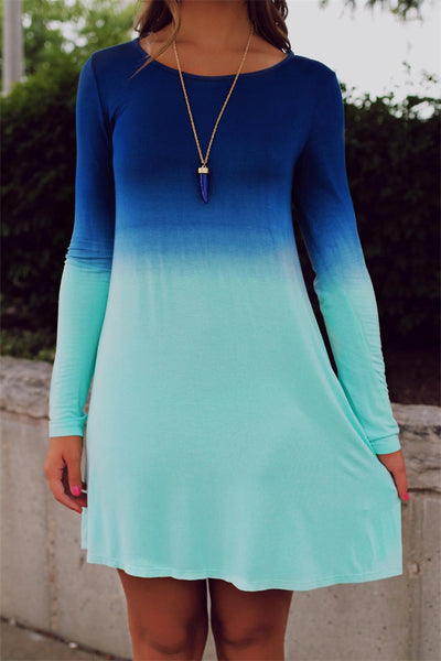 Fading away summer blue dress - Knits and Mitts - 2