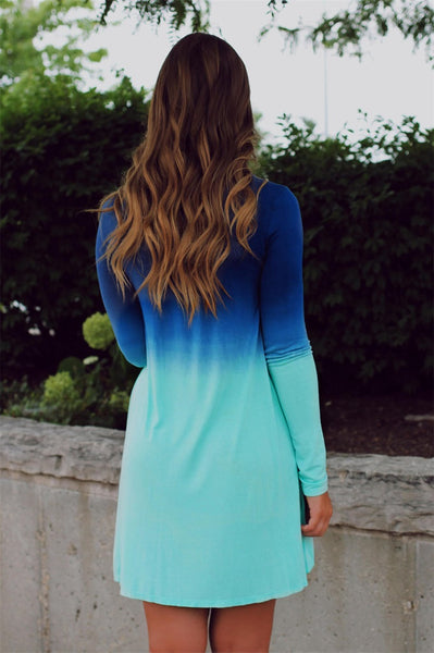 Fading away summer blue dress - Knits and Mitts - 4
