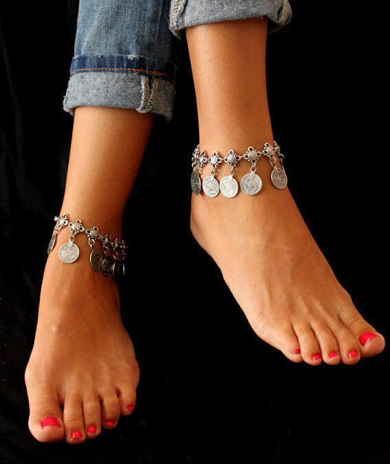 Gypsy Anklet Bracelet set - Knits and Mitts