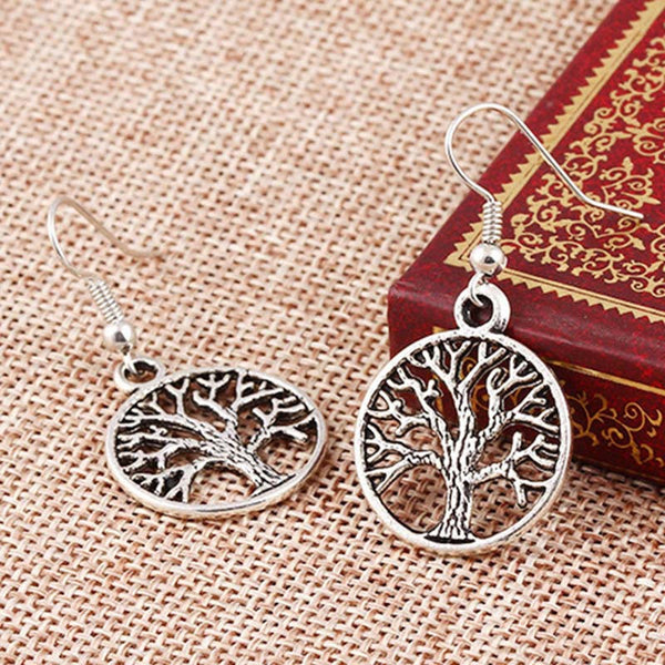 Tree of Life Earrings - Knits and Mitts - 2