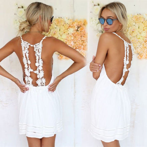 Boho lace  summer dress - Knits and Mitts - 1