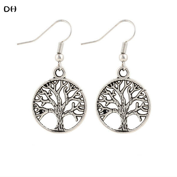 Tree of Life Earrings - Knits and Mitts - 1