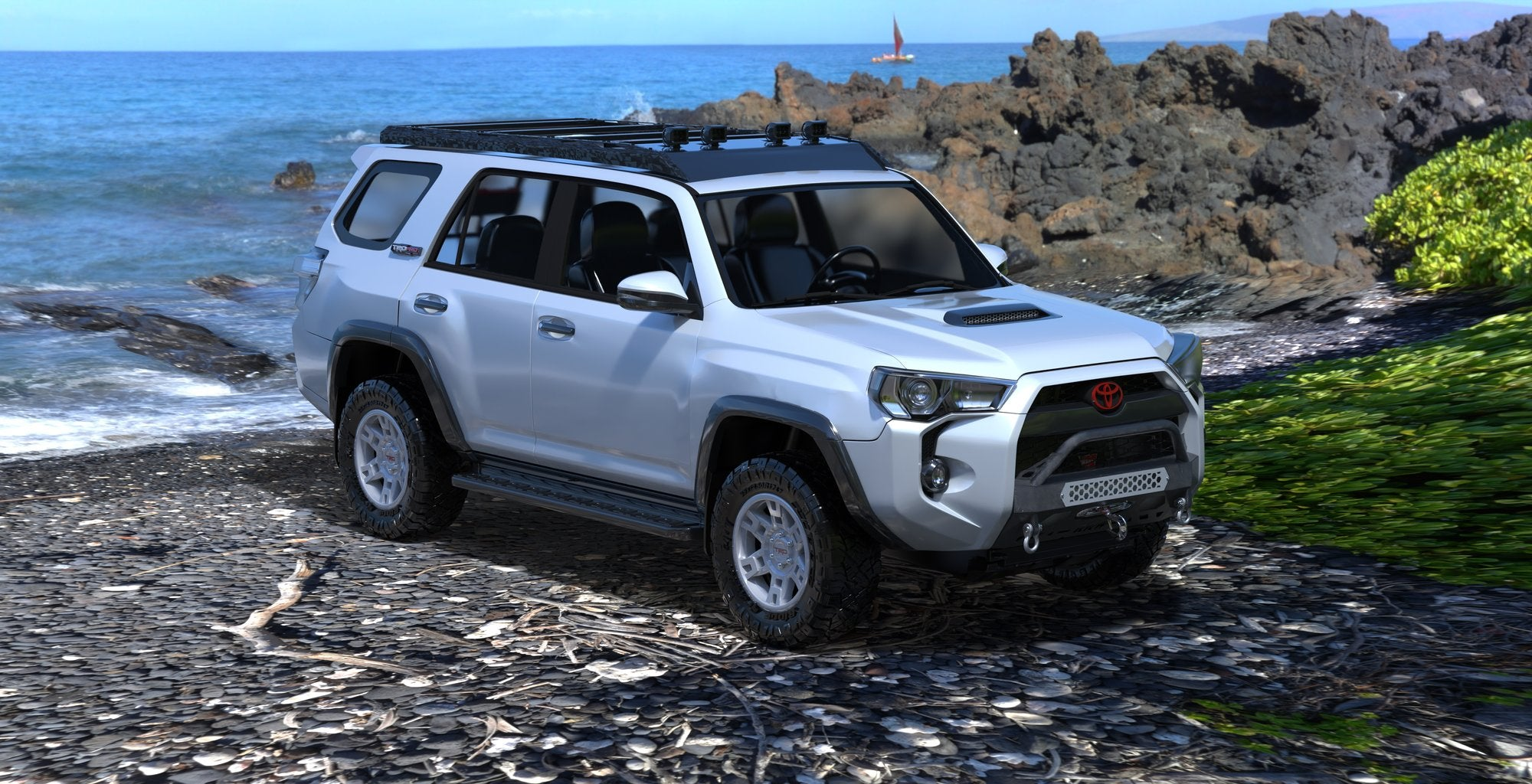 New stealth front bumper for the 2014+ Toyota 4Runner