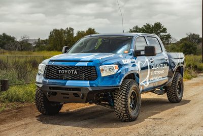 toyota long travel prerunner tundra on rrw off road wheels and metal bumper