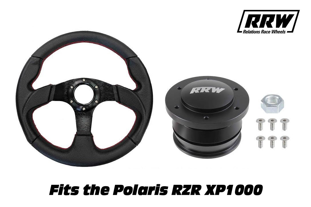 Quick Release Kit + 320mm Race Steering Wheel | Polaris RZR