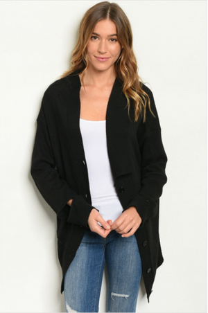 Back Button Down Cardigan
