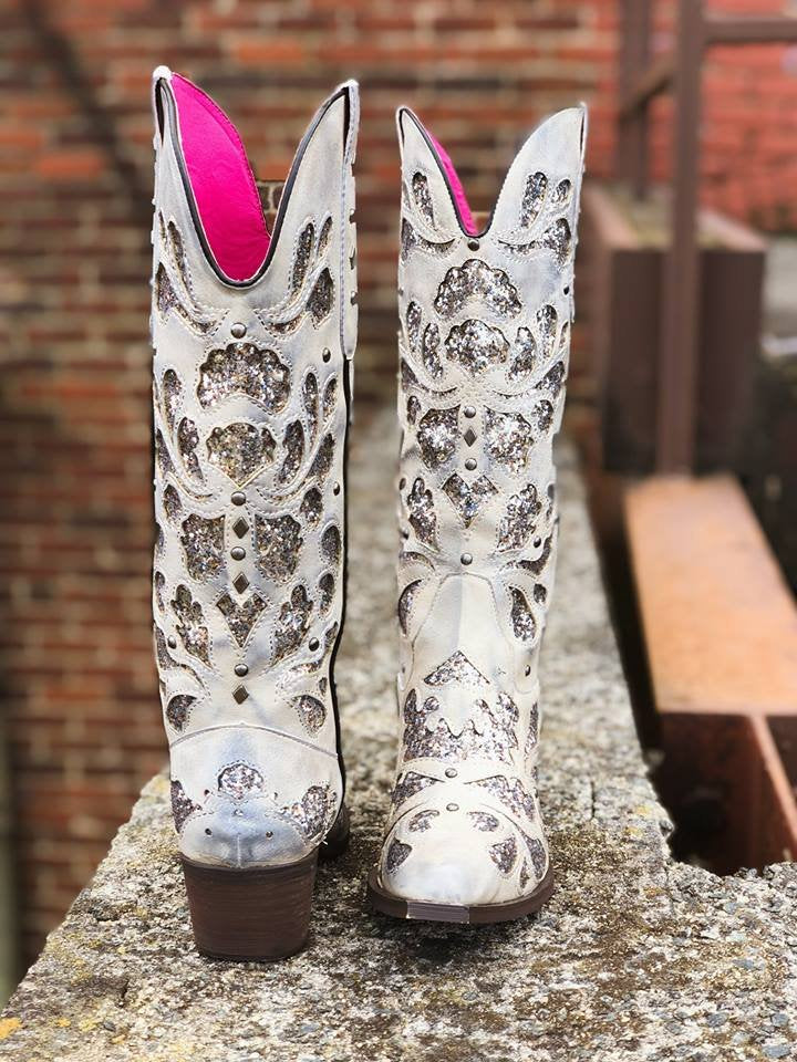Southern Fried Chicks Glitter Cowgirl Boots