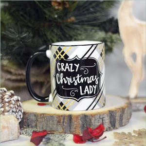 Crazy Christmas Lady 11 oz Mug