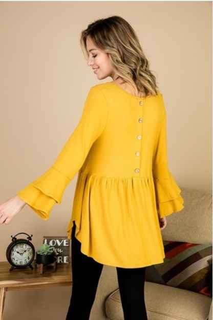 Megan Mustard Swing Tunic