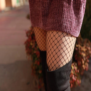 Sparkle Fish Net Stockings