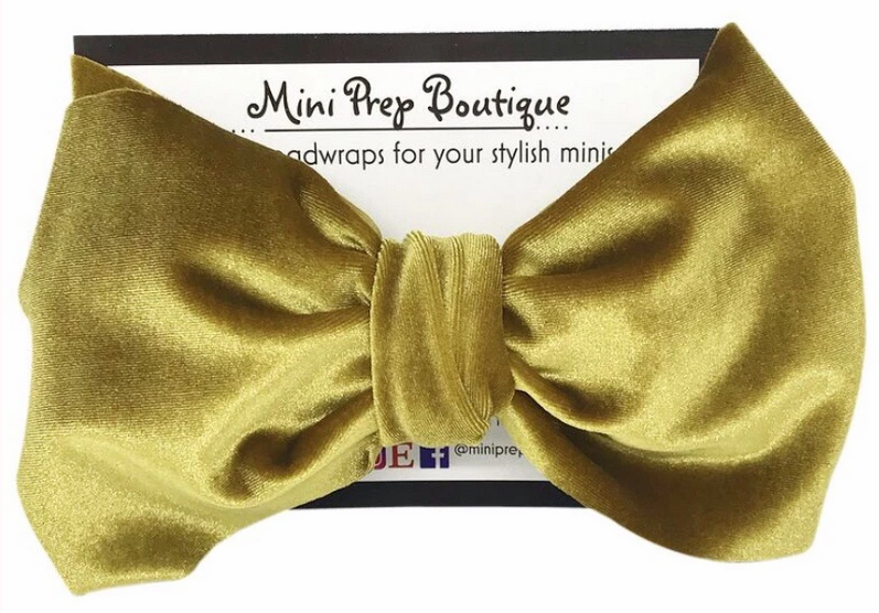 Gold Velvet Headwrap