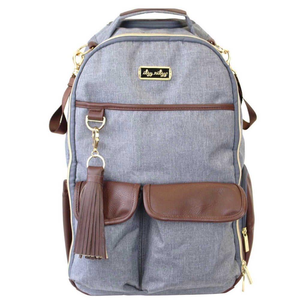 Handsome Heather Gray Backpack Diaper Bag
