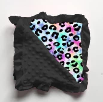 Cotton Candy Leopard Minky Blanket