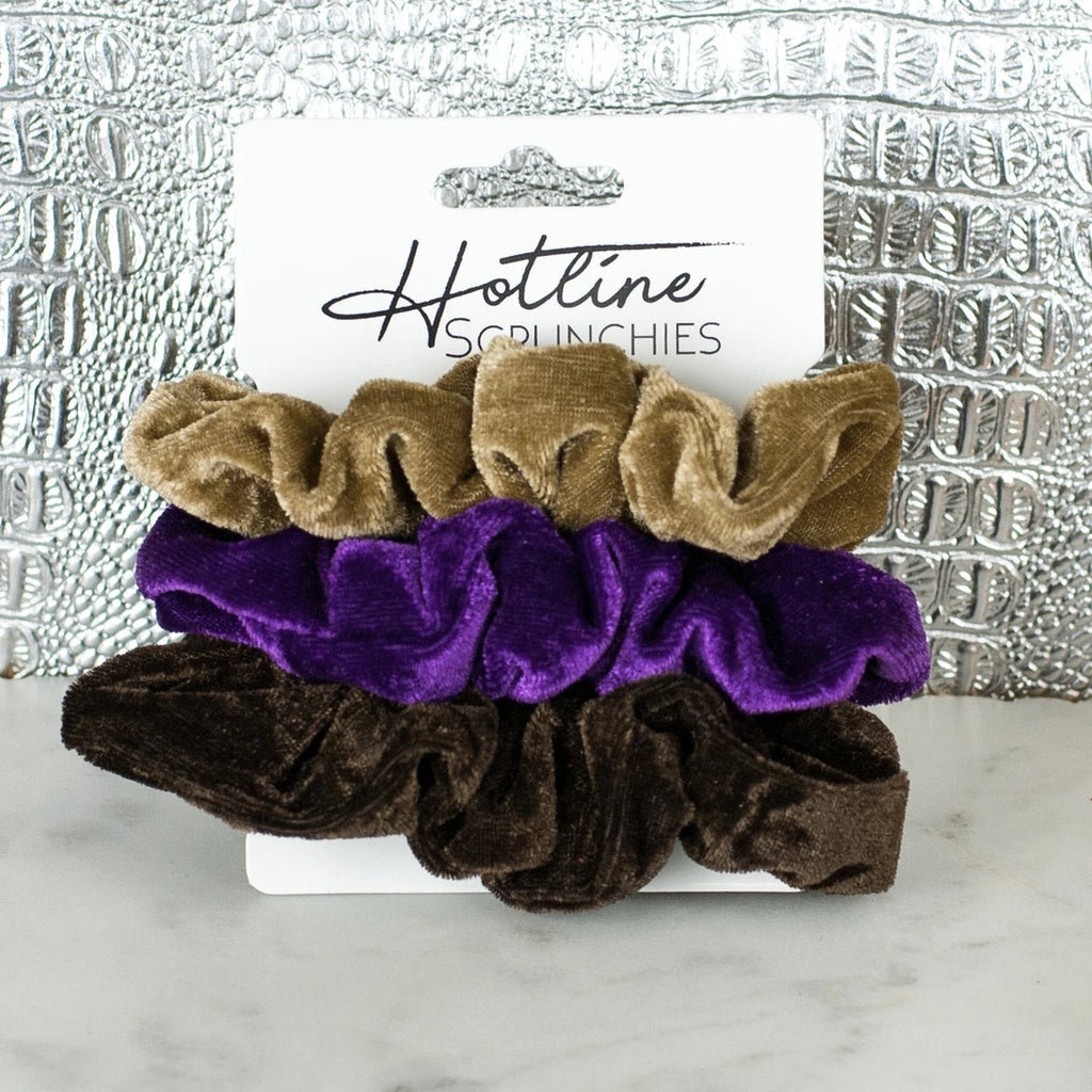 Peanut Butter and Jelly Velvet Scrunchie Set
