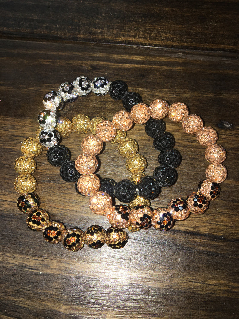 Leopard Blingy Bracelet Bundle