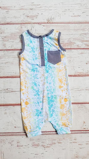 Seaside Splatter Romper