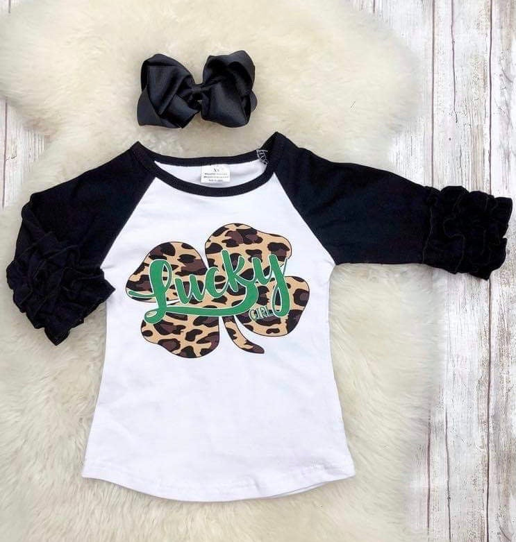 Lucky Girl Shamrock Raglan