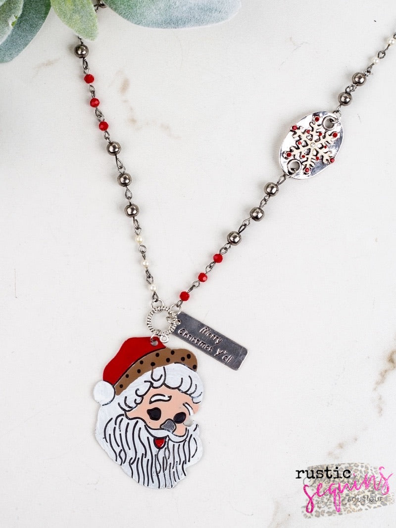 Merry Christmas Y'all Necklace