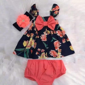 Coral Hibiscus 2 Piece Set