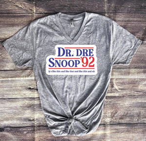 Dr. Dre and Snoop '92 Tee